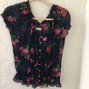 Hollister floral top
